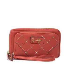 NEW JESSICA SIMPSON DOUBLE ZIPPERED WALLET
